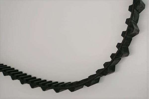 Raupenkette schwarz lang